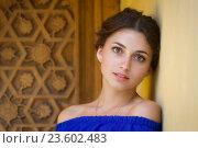 Купить «Портрет красивой девушки», фото № 23602483, снято 31 июля 2016 г. (c) Алексей Назаров / Фотобанк Лори