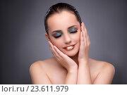 Купить «Beautiful woman in make up concept», фото № 23611979, снято 17 августа 2016 г. (c) Elnur / Фотобанк Лори