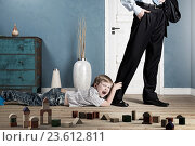Купить «Play with me daddy . Mixed media», фото № 23612811, снято 4 апреля 2020 г. (c) Sergey Nivens / Фотобанк Лори
