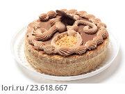 Купить «Торт на белом фоне», эксклюзивное фото № 23618667, снято 27 сентября 2016 г. (c) Яна Королёва / Фотобанк Лори