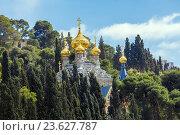 Купить «Женский монастырь Марии Магдалины на Елеонской горе, Иерусалим», фото № 23627787, снято 20 февраля 2013 г. (c) Ростислав Агеев / Фотобанк Лори