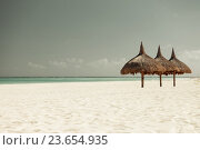 Купить «tropical beach with palapa», фото № 23654935, снято 23 января 2010 г. (c) Syda Productions / Фотобанк Лори