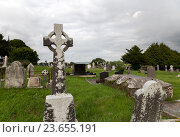 Купить «old celtic cemetery graveyard in ireland», фото № 23655191, снято 24 июня 2016 г. (c) Syda Productions / Фотобанк Лори