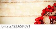 Купить «Fake red cherries on a plank», фото № 23658091, снято 23 июля 2019 г. (c) Wavebreak Media / Фотобанк Лори