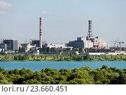 Купить «Вид на АЭС», фото № 23660451, снято 23 июня 2016 г. (c) Андрей Радченко / Фотобанк Лори