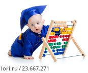 Купить «early learning baby», фото № 23667271, снято 19 марта 2014 г. (c) Оксана Кузьмина / Фотобанк Лори