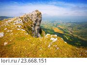 Купить «mountain peK of Sierra de Andia. Navarre», фото № 23668151, снято 17 октября 2018 г. (c) Яков Филимонов / Фотобанк Лори