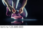 Купить «athletes foot close-up.», фото № 23680683, снято 12 мая 2016 г. (c) Константин Юганов / Фотобанк Лори