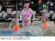 Купить «Пенная вечеринка на пляже Star Beach. Крит. Греция», фото № 23698215, снято 16 сентября 2016 г. (c) Алексей Сварцов / Фотобанк Лори