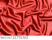 Купить «red satin or silk fabric as background», фото № 23715923, снято 18 августа 2012 г. (c) Оксана Кузьмина / Фотобанк Лори