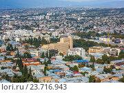 Панорамный вид Тбилиси, республика Грузия. Стоковое фото, фотограф Koba Samurkasov / Фотобанк Лори