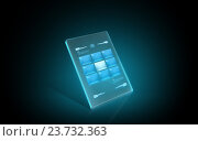 Купить «glowing virtual tablet with buttons on screen», иллюстрация № 23732363 (c) Syda Productions / Фотобанк Лори