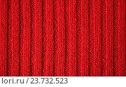 Связанный спицами узор из шерстяных ниток. Вертикальное расположение полос. Стоковое фото, фотограф Галимова Надежда Александровна / Фотобанк Лори