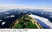 Купить «Ледокол плывет по  Арктике», видеоролик № 23732747, снято 8 октября 2016 г. (c) Vladimir / Фотобанк Лори