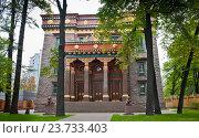Купить «Санкт-Петербургский буддийский храм «Дацан Гунзэчойнэй»», фото № 23733403, снято 26 сентября 2016 г. (c) Екатерина Овсянникова / Фотобанк Лори