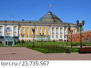 Купить «Сквер на месте снесённого 14-го административного корпуса Кремля и здание Сената», эксклюзивное фото № 23735567, снято 28 августа 2016 г. (c) lana1501 / Фотобанк Лори