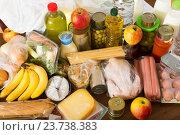 Купить «purchases from supermarket», фото № 23738383, снято 20 апреля 2018 г. (c) Яков Филимонов / Фотобанк Лори