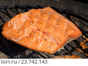 Филе лосося на гриле. Стоковое фото, фотограф Anton Eine / Фотобанк Лори