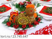 Купить «Печеночный паштет на новогоднем столе», эксклюзивное фото № 23745647, снято 9 октября 2016 г. (c) Blekcat / Фотобанк Лори