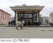 Купить «Наземный вестибюль станции метро «Чистые пруды». Басманный район. Москва», эксклюзивное фото № 23786663, снято 11 октября 2016 г. (c) lana1501 / Фотобанк Лори