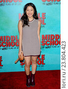 Haley Tju - Hollywood/California/United States - MIDDLE SCHOOL: THE WORST YEARS OF MY LIFE FILM PREMIERE. (2016 год). Редакционное фото, фотограф Patrick Rideaux / age Fotostock / Фотобанк Лори
