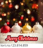 Купить «Composite image of merry christmas», фото № 23814859, снято 25 апреля 2019 г. (c) Wavebreak Media / Фотобанк Лори