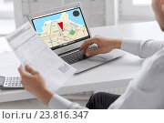 Купить «businessman with laptop computer working at office», фото № 23816347, снято 9 июня 2013 г. (c) Syda Productions / Фотобанк Лори