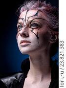 Портрет девушки с креативным макияжем. Стоковое фото, фотограф Вячеслав Чернявский / Фотобанк Лори