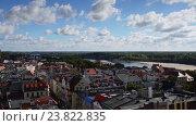 Купить «Torun (Thorn) is city in Poland, on Vistula Rive», видеоролик № 23822835, снято 7 апреля 2016 г. (c) BestPhotoStudio / Фотобанк Лори