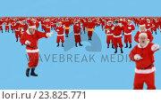 Купить «Group of santa claus dancing and performing various activity», видеоролик № 23825771, снято 15 сентября 2019 г. (c) Wavebreak Media / Фотобанк Лори