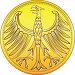 Деньги Германии. Золотая монета с геральдическим орлом, иллюстрация № 23840555 (c) Коваленкова Ольга / Фотобанк Лори