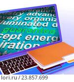 Купить «Guarantee Word Cloud Laptop Meaning Secure Guaranteed Or Assured», фото № 23857699, снято 18 августа 2014 г. (c) easy Fotostock / Фотобанк Лори