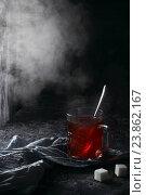 Чашка горячего чая. Стоковое фото, фотограф Оксана Голева / Фотобанк Лори