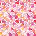 Бесшовный фон с акварельными сердечками, фото № 23873331, снято 24 октября 2016 г. (c) Наталия Пыжова / Фотобанк Лори