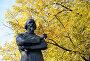 Фрагмент памятника Некрасову в Ярославле осенью, фото № 23886435, снято 23 сентября 2014 г. (c) Голованов Сергей / Фотобанк Лори