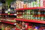 Shelves with canned goods, фото № 23905431, снято 22 марта 2015 г. (c) Яков Филимонов / Фотобанк Лори