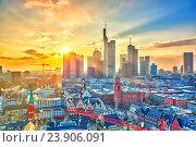 Frankfurt at sunset, Germany. Стоковое фото, фотограф Sergey Borisov / Фотобанк Лори