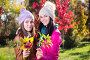 Two women in autumn park, фото № 23907323, снято 22 октября 2016 г. (c) Типляшина Евгения / Фотобанк Лори