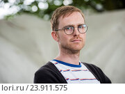 EDINBURGH, SCOTLAND, Tuesday 23rd, AUGUST 2016: Author Adam Biles appears at the Edinburgh International Book Festival. The two weeks event is the world... Редакционное фото, фотограф Guillem López / age Fotostock / Фотобанк Лори