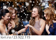 Купить «woman showing engagement ring to her friends», фото № 23922115, снято 21 ноября 2015 г. (c) Syda Productions / Фотобанк Лори