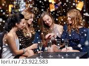 Купить «woman showing engagement ring to her friends», фото № 23922583, снято 21 ноября 2015 г. (c) Syda Productions / Фотобанк Лори