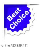 Купить «Best Choice Showing Number One And Ideal», фото № 23939411, снято 6 ноября 2014 г. (c) easy Fotostock / Фотобанк Лори