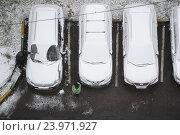 Купить «Первый снег в Москве», фото № 23971927, снято 27 октября 2016 г. (c) Антон Белицкий / Фотобанк Лори