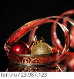 Купить «Новогодние украшения», фото № 23987123, снято 19 апреля 2012 г. (c) Гладских Татьяна / Фотобанк Лори