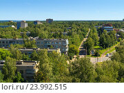 Купить «Вид на Дубну с высоты птичьего полета», фото № 23992515, снято 12 июля 2014 г. (c) AK Imaging / Фотобанк Лори