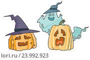 Купить «Тыквы на Хэллоуин», иллюстрация № 23992923 (c) Елисеева Екатерина / Фотобанк Лори