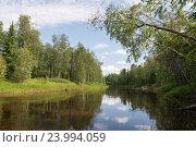 Красивая река в Сибири. Стоковое фото, фотограф Владимир Ковальчук / Фотобанк Лори