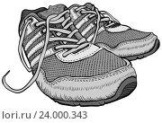 Купить «Пара кроссовок», иллюстрация № 24000343 (c) Aqua / Фотобанк Лори