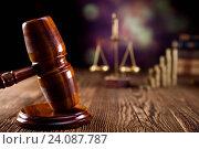 Купить «Justice Scale and Gavel, ambient light vivid theme», фото № 24087787, снято 14 октября 2013 г. (c) easy Fotostock / Фотобанк Лори