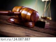 Купить «Wooden gavel barrister, justice concept, legal system», фото № 24087887, снято 15 октября 2013 г. (c) easy Fotostock / Фотобанк Лори